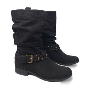 Unlisted Kenneth Cole Production Black Slouch Boot